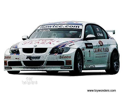 "Guiloy - BMW 320si WTCC ""Andy PRIAULX"" BMW Team UK-RBM (1:18, White) GU67503"