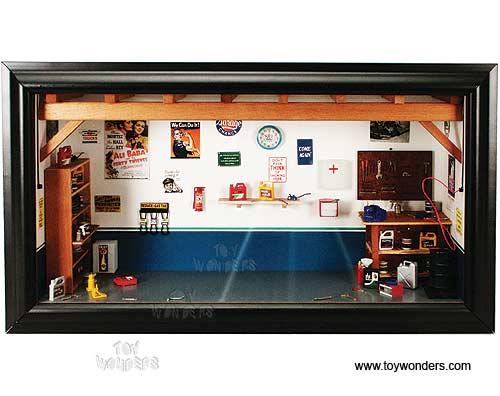 1 18 scale mini garage diorama generic garage na for Garage mini pontoise