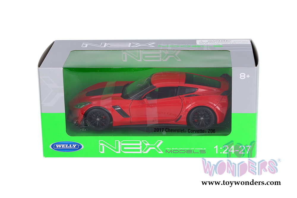 WELLY 2017 CHEVROLET CORVETTE Z06 RED 1:34 DIE CAST METAL NEW IN BOX