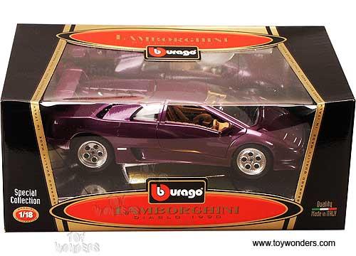 Bburago Special Lamborghini Diablo Hard Top 1990 1 18 Scale Diecast Model Car Purple 3028