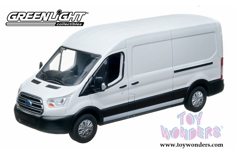 Ford Transit Fourgon encadré Blanc Custom à partir de 2014 1//43 Greenlight Modèle Voiture