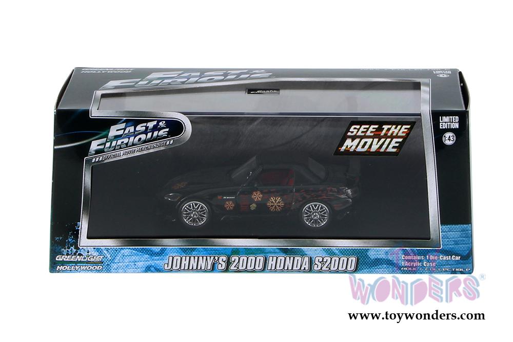 Luz Verde 1:43 Fast And Furious JOHNNY/'S 2000 Honda S2000 Die-Cast 86205