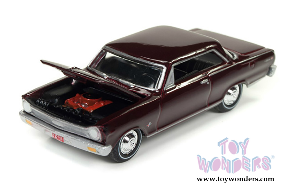 Round 2 Johnny Lightning Muscle Cars U S A 1965 Chevy Nova Ss Hard Topjlmc010 24a 1 64 Scale Whole Cast Model Car