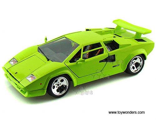Bburago Gold Lamborghini Countach 5000 Quattrovalvole Hard Top