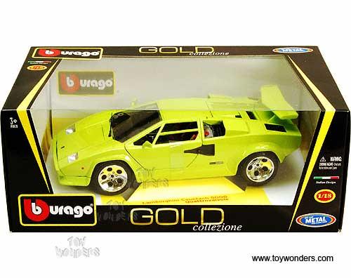 Bburago Gold Lamborghini Countach 5000 Quattrovalvole Hard Top 1