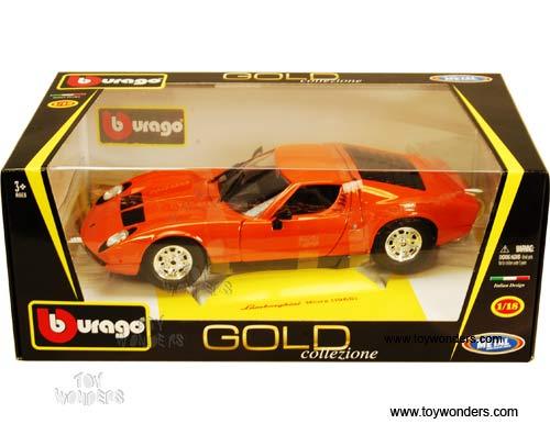 Bburago Gold Lamborghini Miura Hardtop 1968 1 18 Scale Diecast