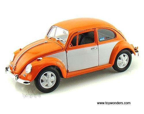 Greenlight Hippie - Volkswagen Beetle Hard Top (1967, 1/18 scale diecast  model car, Orange & White ) 12838