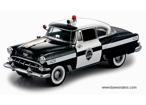 1954 Chevy Bel Air Police Car By Sun Star Usa 118 Scale Diecast