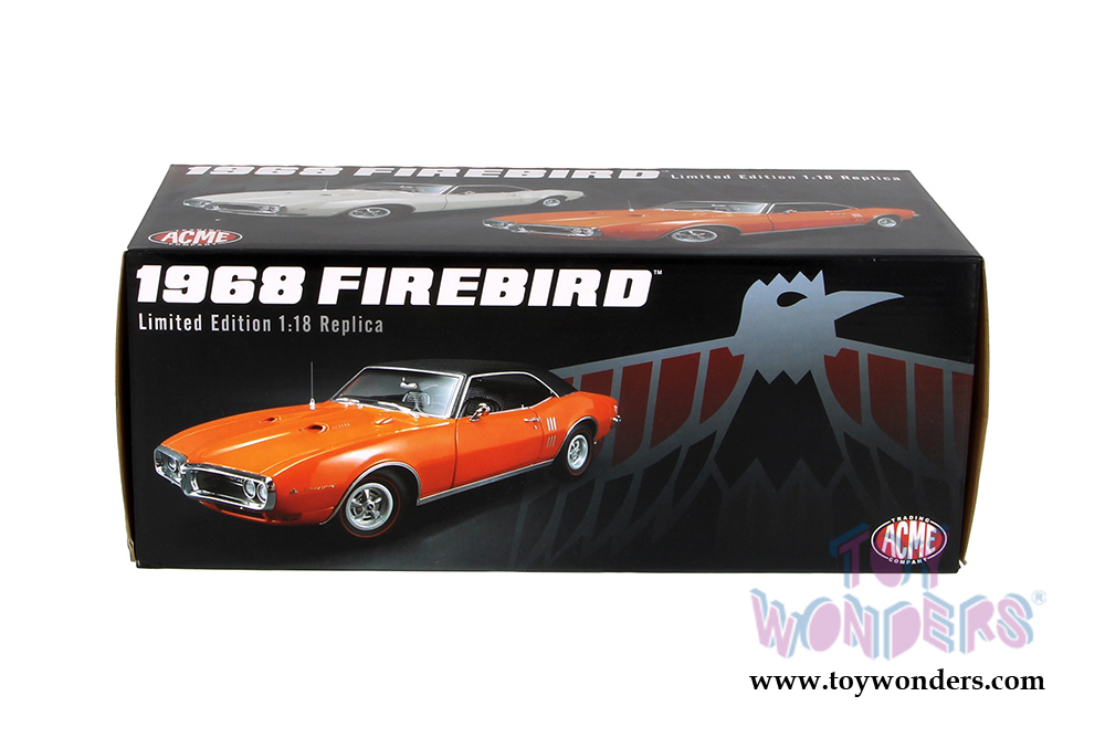 Acme - Pontiac Firebird with Vinyl Top (1968, 1/18 scale diecast model car,  Carnival Red) 1805205