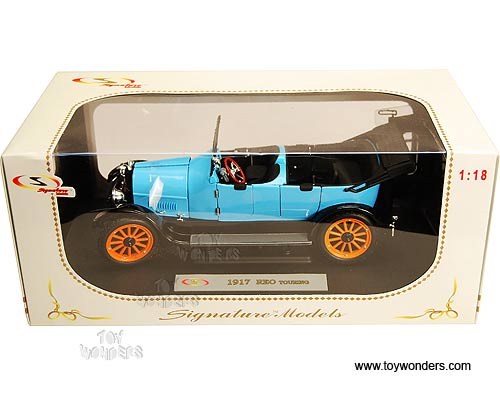 Signature Models - Reo Touring Convertible (1917, 1/18 scale die cast model  car, Blue) 18105