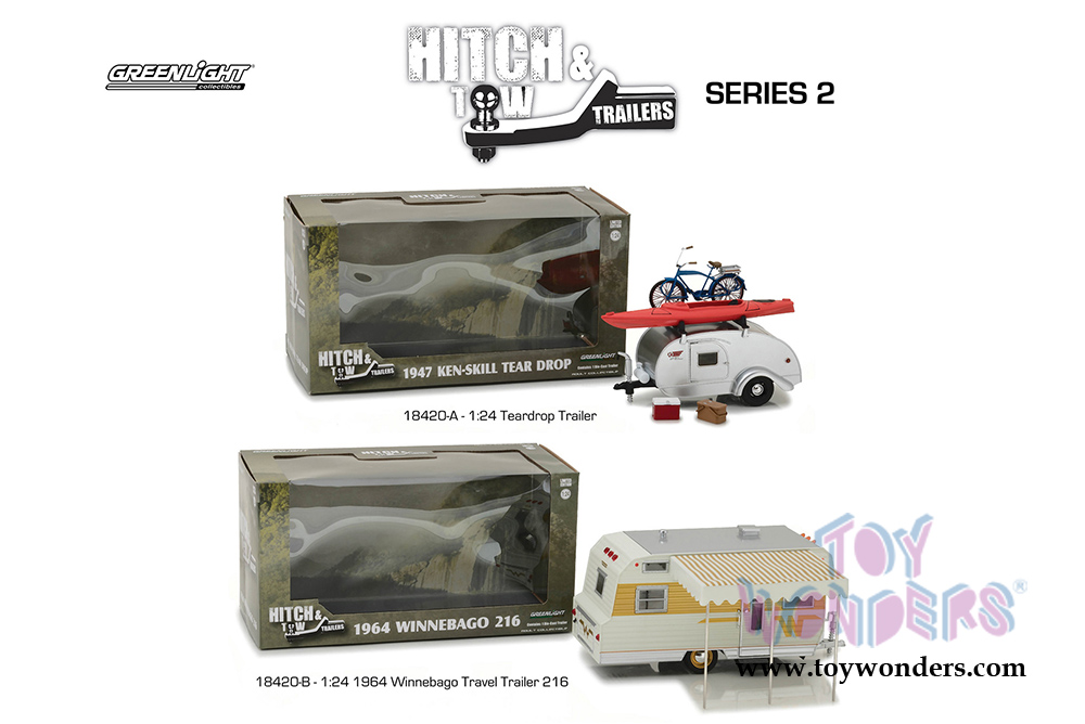 Contemporary Manufacture Hitch Tow Series 2 1964 Winnebago 216 18420 B Greenlight 1 24 W B Top Net Tn