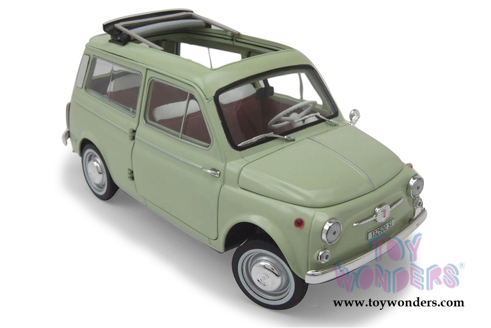 Norev Fiat 500 Giardiniera 1962 1 18 Scale Diecast Model Car Light Green 187723