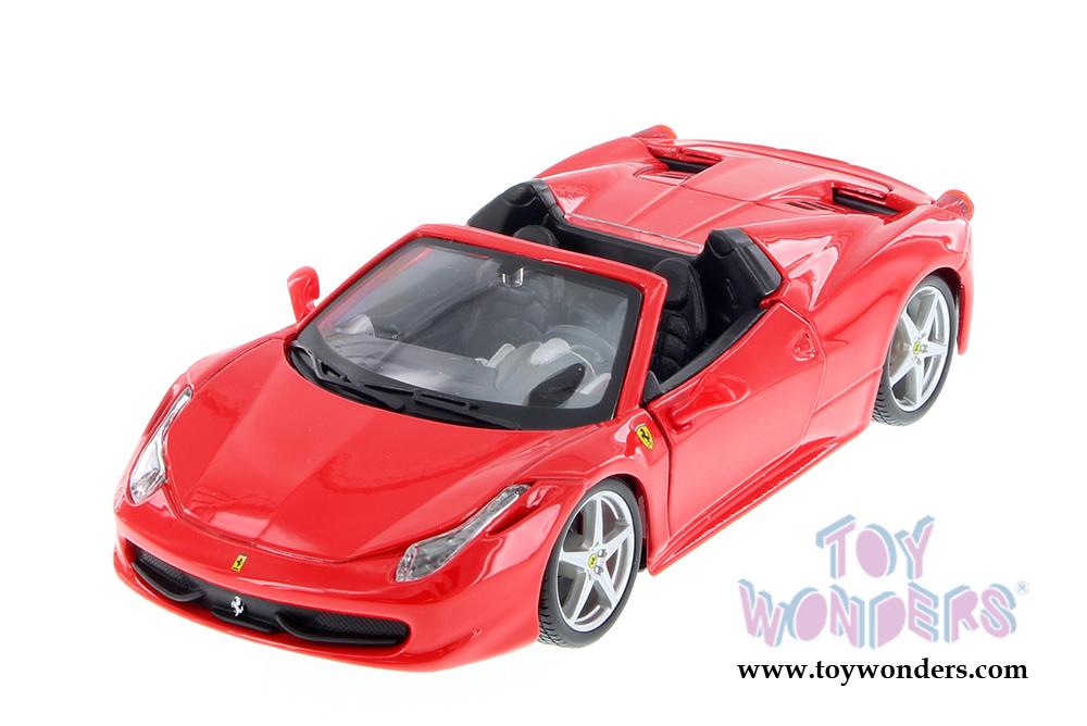 Bburago Ferrari Race Play Ferrari 458 Spider Convertible 1 24 Scale Diecast Model Car Red 26017r