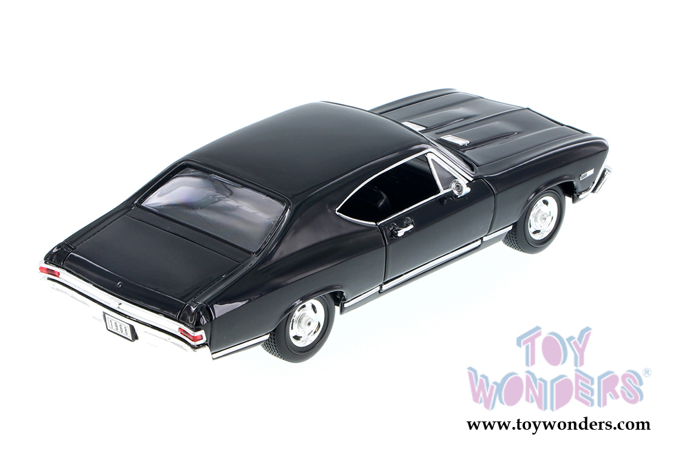 Welly 29397 1//24 Scale Diecast 1968 Chevy Chevelle SS396 Black