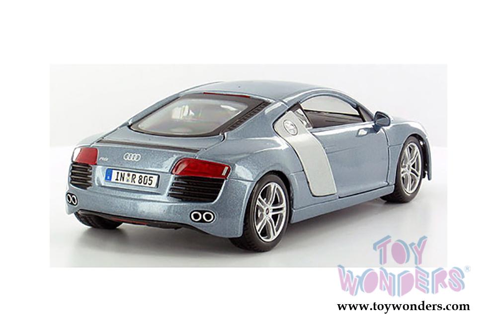 Metallic Blue 31281BU 1//24 Scale Diecast Model Toy Car Maisto Audi R8 Hard Top