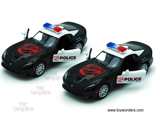 Kinsmart - Dodge SRT Viper GTS Police Hardtop (2013, 1/36 scale diecast  model car, Black/ White ) 5363DP