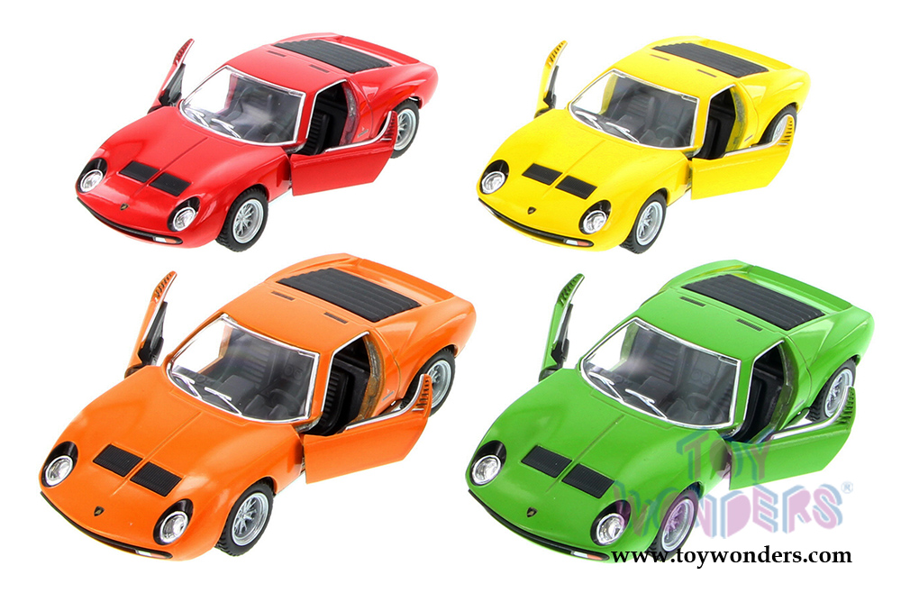 Kinsmart 1:34 Lamborghini 1971 Miura P400 SV Red Display Mini Car Toy