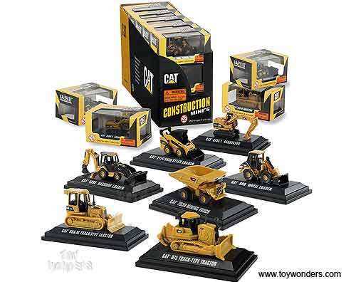 Norscot - Cat Construction Mini's Assortment (1/50 scale diecast model car,  15 pcs) 55429