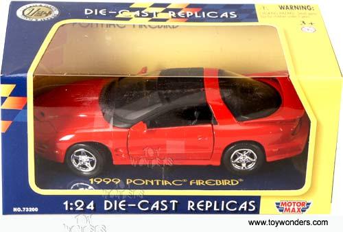 Motor Max 1999 Pontiac Firebird T TOPS Metallic Blue 1//43 DIECAST w DISPLAY CASE