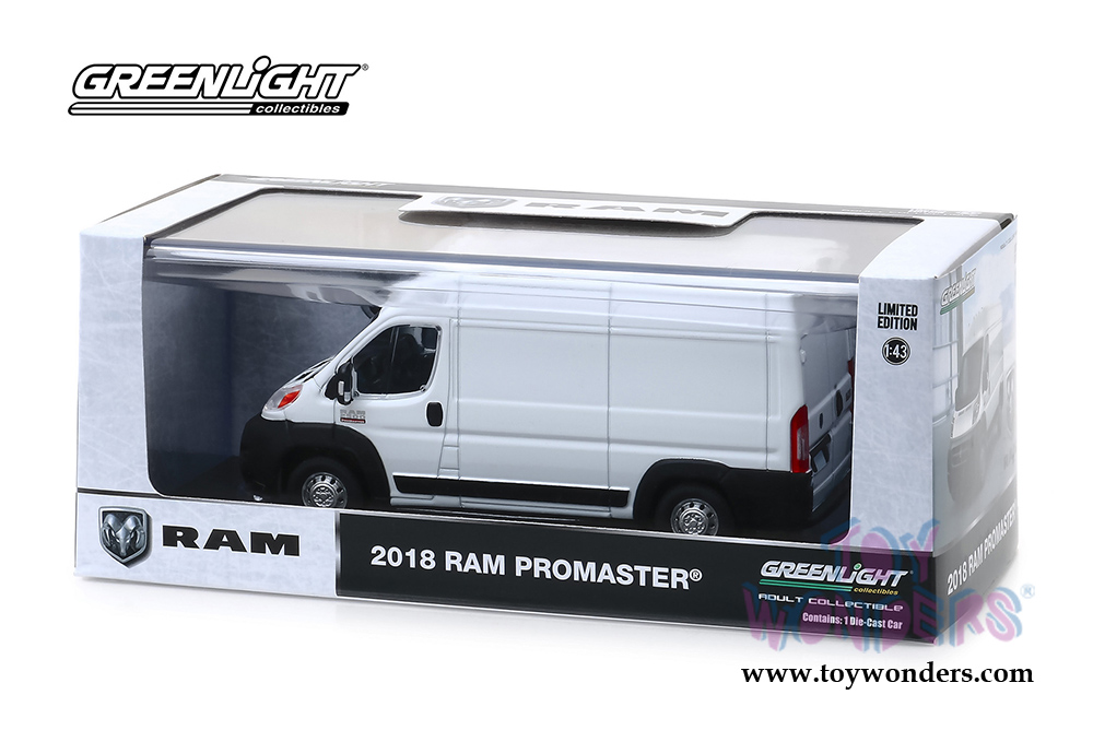 Greenlight - Ram ProMaster® 2500 Cargo High Roof (2018, 1/43 scale diecast  model car, Bright White) 86152