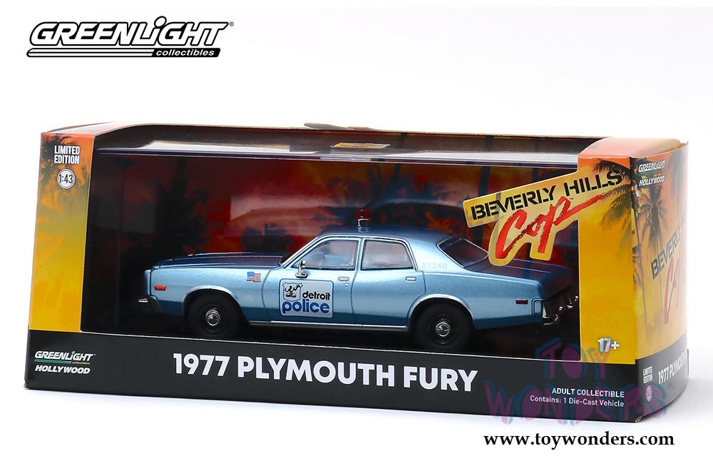 Beverly Hills Cop 1:43 NEU!° Greenlight 86565 Plymouth Fury blau metallic